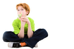 The red frozen teenager Royalty Free Stock Photos