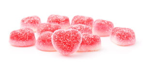 Red fruit candies Stock Photos