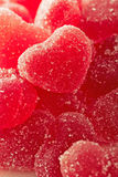 Red Fruit Candy In The Form Of The Heart Stock Photo