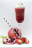 Red fruit cocktail Stock Image
