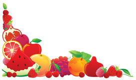 Red fruit corner Royalty Free Stock Images