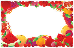 Red fruit frame Stock Image