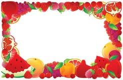 Red fruit frame. Vector illustration Stock Image