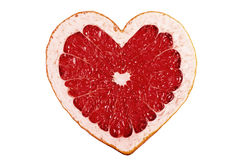 Red fruit heart Stock Photo