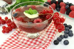 Red fruit jelly Royalty Free Stock Photo