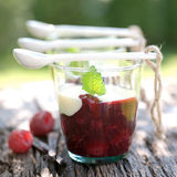 Red fruit jelly Royalty Free Stock Photography