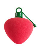 Red fruit shaped bath sponge Royalty Free Stock Photos