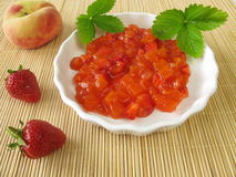 Red fruit soup Stock Images