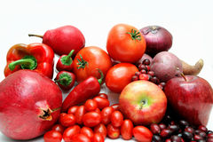 Red Fruit And Vegetables Stock Images
