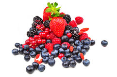 Red fruits Stock Photos