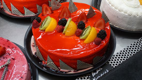 Red fruits cake Royalty Free Stock Images