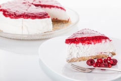 Red fruits cheesecake Stock Photos