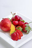 Red Fruits. A dish of red fruits Stock Image