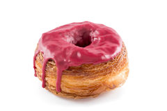 Red fruits fondant croissant and donut mixture Royalty Free Stock Photo