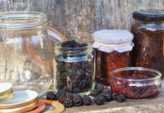 Red fruits and jam Stock Photography