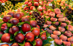 Red Fruits piled up Stock Photo