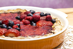 Red fruits tart Stock Images