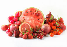 Red fruits and vegetables Royalty Free Stock Images