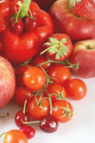 Red fruits and vegetables Royalty Free Stock Photo