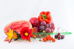 Red fruits royalty free stock images