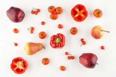 Red fruits and vegetables Royalty Free Stock Photography