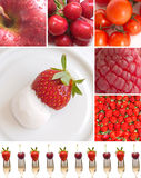 Red fruits and vegeteables Royalty Free Stock Photography