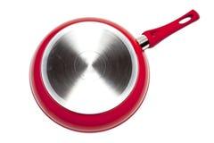 Red frying pan Stock Image
