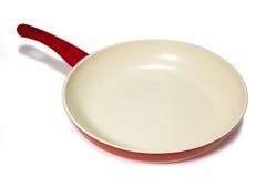 Red frying pan Stock Photos