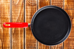 Red frying pan Royalty Free Stock Photos