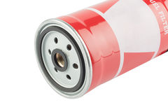 Red fuel filter Royalty Free Stock Photo