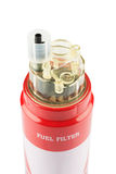 Red fuel filter Stock Photos