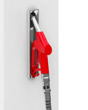 The red fuel nozzle Royalty Free Stock Photography
