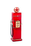 Red fuel pump. Over white background Royalty Free Stock Images