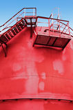 Red fuel tank with a stairs Royalty Free Stock Images
