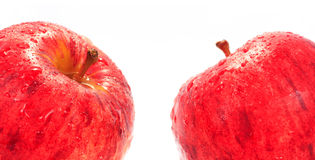Red Fuji apple isolated Stock Images