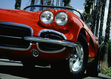 Red Fun Machine. Red Corvette Royalty Free Stock Photos
