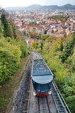 Red funicular in Graz Royalty Free Stock Images