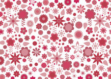 Free Red Funky Flowers And Leaves Stock Photos - 17693103