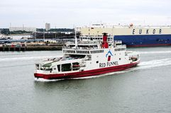 Red Funnel Car Ferry Stock Image