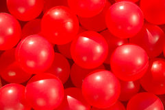 Red funny balls Stock Photo