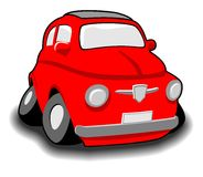 Red funny car Royalty Free Stock Image