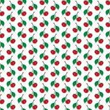 Red funny cartoon fruit cherry seamless pattern Stock Photo