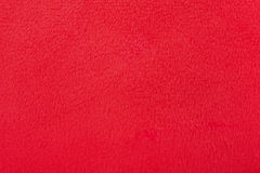 Red fur fabric texture background Stock Photo