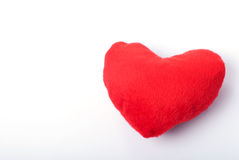 Red fur heart. On isolated on white background Stock Photo