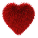 Red fur heart Royalty Free Stock Image