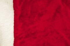 Red Fur with White Trim Background for Christmas Stock Photography