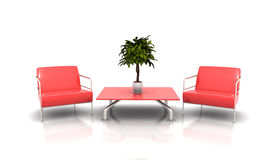 Red furniture Stock Images