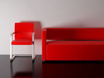 Red furniture Royalty Free Stock Photography