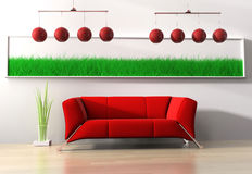 Red furniture Stock Photo