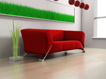 Red furniture Royalty Free Stock Images